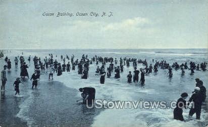 Ocean Bathing - Ocean City, New Jersey NJ Postcard
