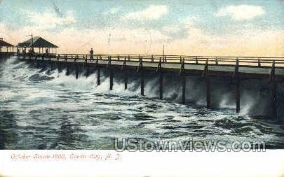 October Storm  - Ocean City, New Jersey NJ Postcard