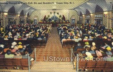 Concert At Music Hall On 8Th Street - Ocean City, New Jersey NJ Postcard