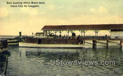 Boat Landing - Ocean City, New Jersey NJ Postcard