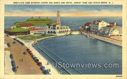 Casino And North End Hotel - Ocean City, New Jersey NJ Postcard
