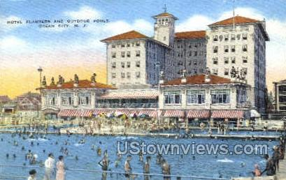 Hotel Flanders And Outdoor Pools - Ocean City, New Jersey NJ Postcard
