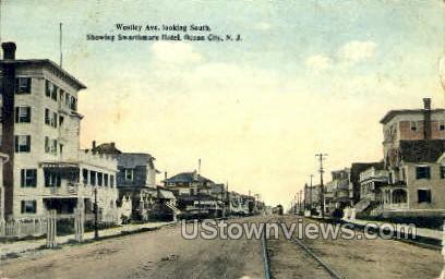 Wesley Avenue - Ocean City, New Jersey NJ Postcard