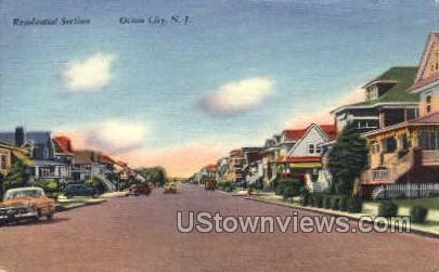 Residential Section - Ocean City, New Jersey NJ Postcard