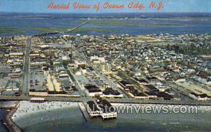 Aerial View - Ocean City, New Jersey NJ Postcard
