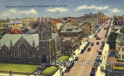 Methodist Episcopal Church  - Ocean City, New Jersey NJ Postcard