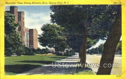 Atlantic Avenue - Ocean City, New Jersey NJ Postcard