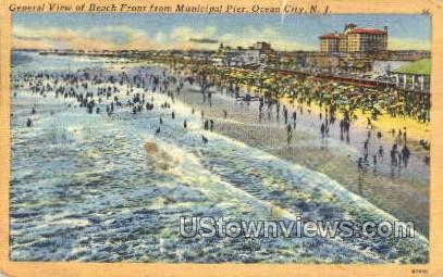 Municipal Pier  - Ocean City, New Jersey NJ Postcard