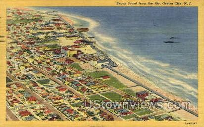 Beach Front - Ocean City, New Jersey NJ Postcard