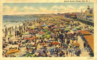 Beach Scene - Ocean City, New Jersey NJ Postcard