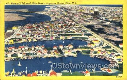 17Th And 18Th Street Lagoons - Ocean City, New Jersey NJ Postcard
