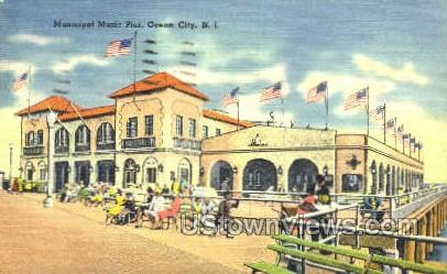 Municipal Music Pier - Ocean City, New Jersey NJ Postcard