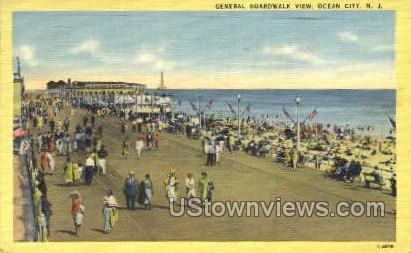 General Boardwalk - Ocean City, New Jersey NJ Postcard