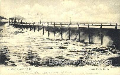 October Storm 1903 - Ocean City, New Jersey NJ Postcard