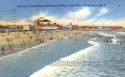 General View  - Ocean City, New Jersey NJ Postcard
