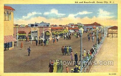 Boardwalk - Ocean City, New Jersey NJ Postcard