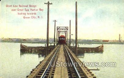 Short Line Railroad Bridge - Ocean City, New Jersey NJ Postcard