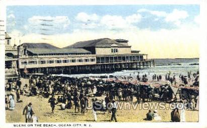 Beach - Ocean City, New Jersey NJ Postcard