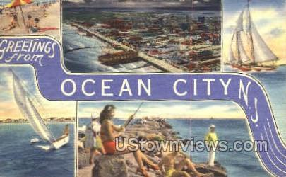 Greetings From  - Ocean City, New Jersey NJ Postcard