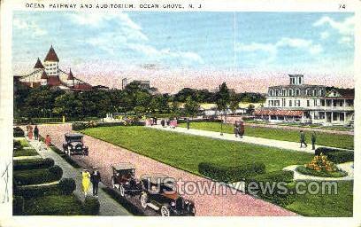 Ocean Pathway And Auditorium - Ocean City, New Jersey NJ Postcard