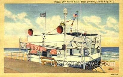 Beach Patrol Headquarters - Ocean City, New Jersey NJ Postcard