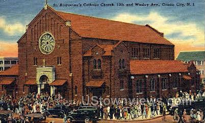 St Augustness Catholic Church - Ocean City, New Jersey NJ Postcard