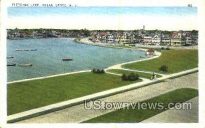 Fletcher Lake - Ocean Grove, New Jersey NJ Postcard