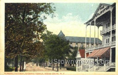 Pilgrims Pathway - Ocean Grove, New Jersey NJ Postcard