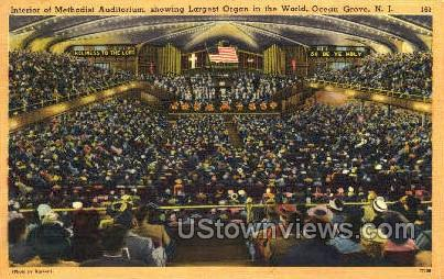 Interior Of Methodist Auditorium - Ocean Grove, New Jersey NJ Postcard