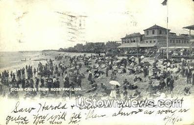 Ocean Grove From Roses Pavilion - New Jersey NJ Postcard