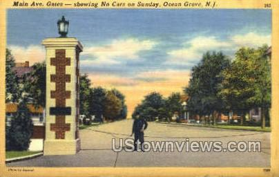Main Avenue - Ocean Grove, New Jersey NJ Postcard