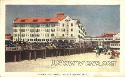 North End Hotel And Pavilion - Ocean Grove, New Jersey NJ Postcard