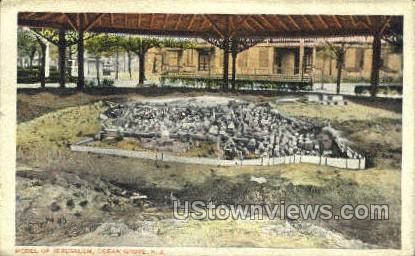 Model Of Jerusalem - Ocean Grove, New Jersey NJ Postcard