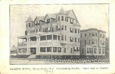 Seaside Hotel - Ocean Grove, New Jersey NJ Postcard