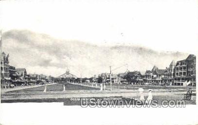 Ocean Pathway And Auditorium - Ocean Grove, New Jersey NJ Postcard