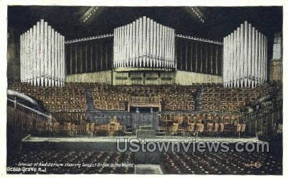 Interior Of Auditorium - Ocean Grove, New Jersey NJ Postcard