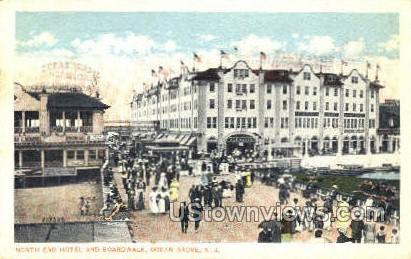 North End And Boardwalk  - Ocean Grove, New Jersey NJ Postcard