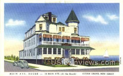 Main Avenue House - Ocean Grove, New Jersey NJ Postcard