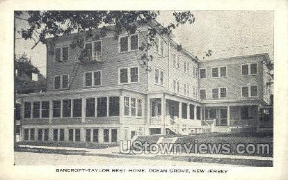 Bancroft Taylor Rest Home - Ocean Grove, New Jersey NJ Postcard