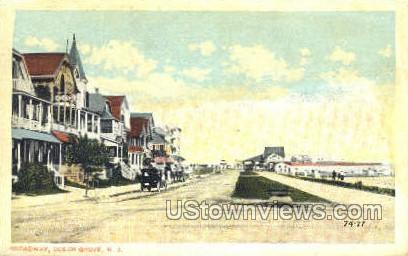 Broadway - Ocean Grove, New Jersey NJ Postcard