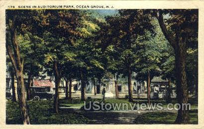 Auditorium Park - Ocean Grove, New Jersey NJ Postcard