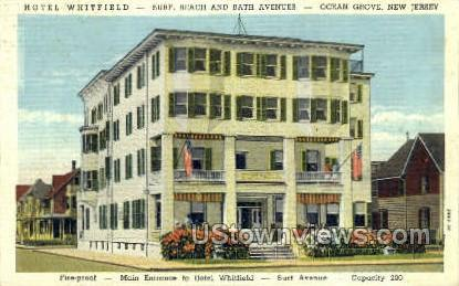 Hotel Whitfield  - Ocean Grove, New Jersey NJ Postcard