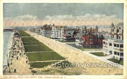 The Beach - Ocean Grove, New Jersey NJ Postcard