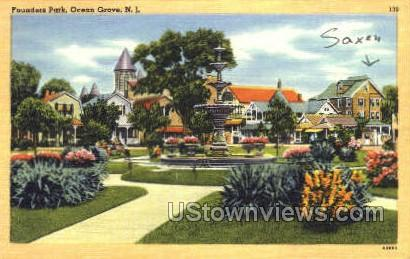Founders Park - Ocean Grove, New Jersey NJ Postcard
