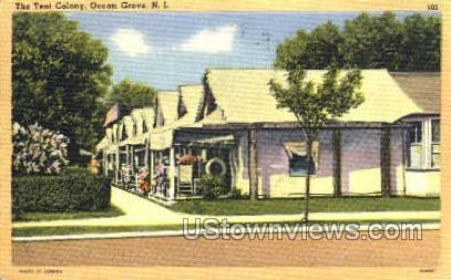 The Tent Colony - Ocean Grove, New Jersey NJ Postcard
