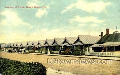 Avenue Tents - Ocean Grove, New Jersey NJ Postcard