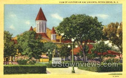 Auditorium And Grounds - Ocean Grove, New Jersey NJ Postcard