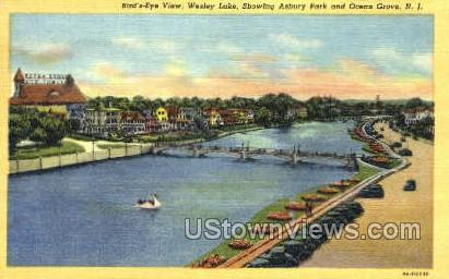 Wesley Lake - Ocean Grove, New Jersey NJ Postcard