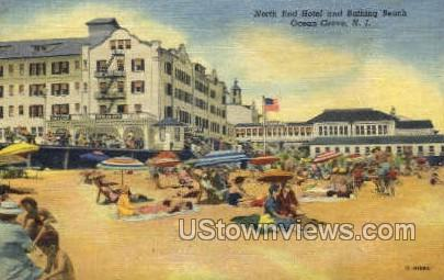 North End Hotel And Beach - Ocean Grove, New Jersey NJ Postcard