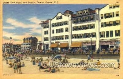 North End And Beach - Ocean Grove, New Jersey NJ Postcard